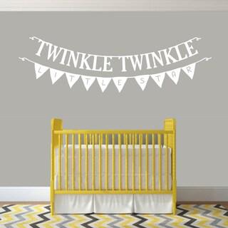 Twinkle Twinkle Little Star 60-inch x 20-inch Nursery Wall Decal