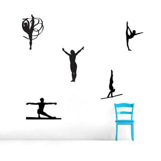 Gymnastics Dancers Wall Decals Set Large