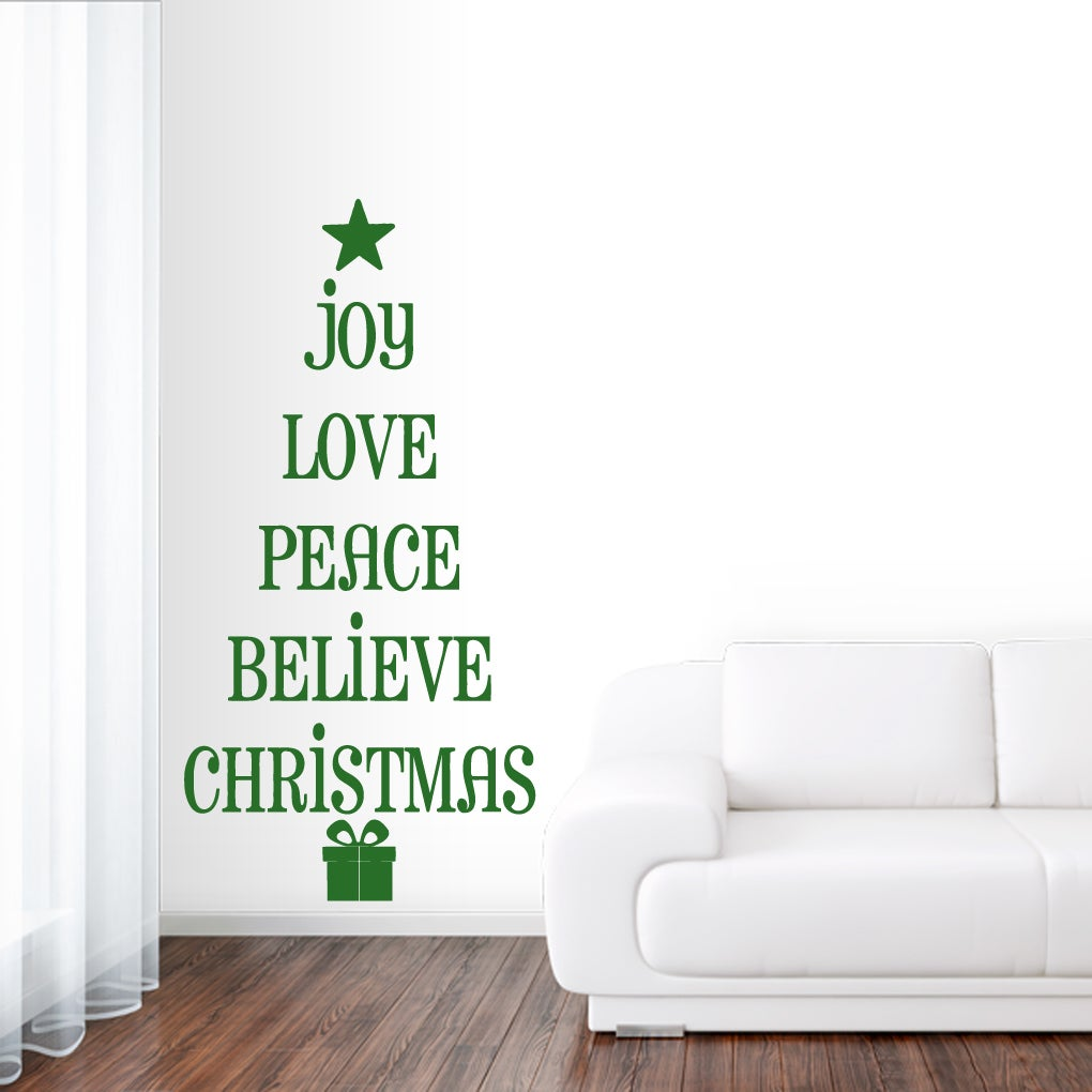 Sweetums Christmas Tree Words Wall Decal 10 inches wide x...