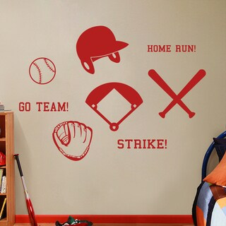 Large Baseball Wall Decals Set