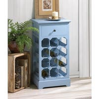 Iris Wooden Wine Chest - LIGHT BLUE