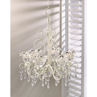 Link to Elaborate Crystal and Candle Hanging Chandelier Similar Items in Decorative Accessories