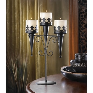 Accentuation Black Triple Candleabra