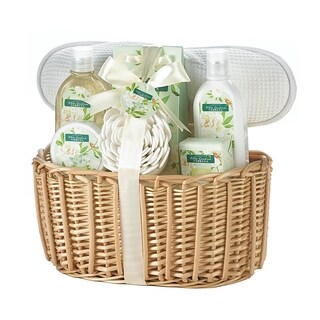Spa Bath and Body White Gardenia Scent Gift Basket