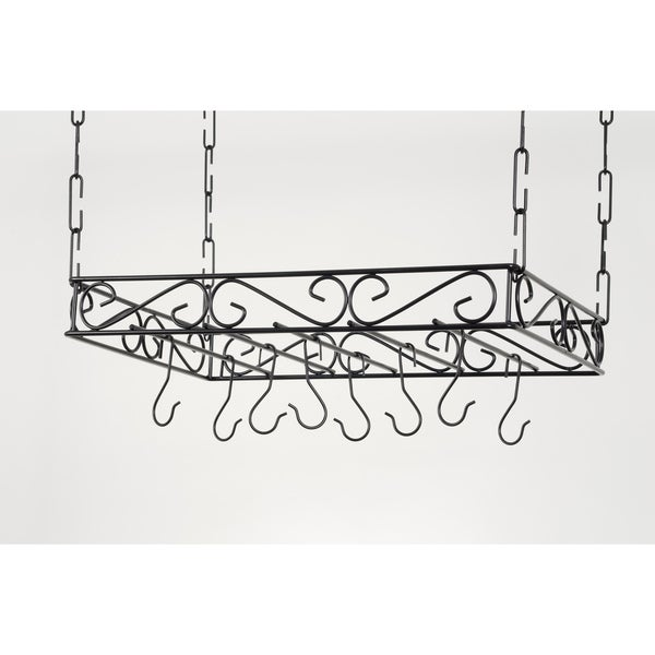 Concept Housewares Black Wire Pot Rack