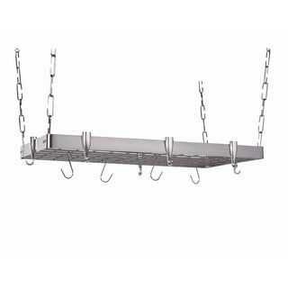 Concept Housewares Rectangular Ceiling Pot Rack Stainless Steel