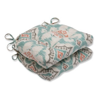 Pillow Perfect Kantha Surf Reversible Chair Pad (Set of 2)