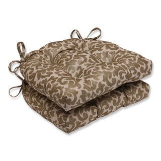 Pillow Perfect Glam Packed Gilt Reversible Chair Pad (Set of 2)