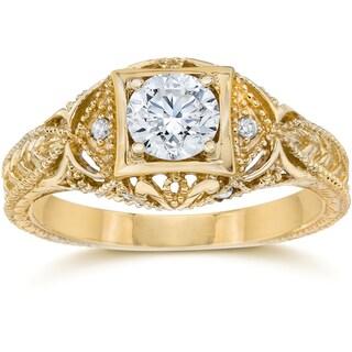 Link to 14k Yellow Gold 5/8 ct TDW Diamond Vintage Engagement Ring Similar Items in Wedding Rings
