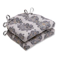 Pillow Perfect Suri Medallion Greystone Reversible Chair Pad (Set of 2)
