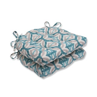 Pillow Perfect Tipton Frost Reversible Chair Pad (Set of 2)