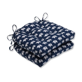 Pillow Perfect Ellie Indigo Reversible Chair Pad (Set of 2)