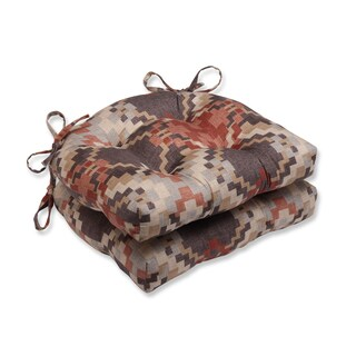 Pillow Perfect Cabin Fever Heather Reversible Chair Pad (Set Of 2)