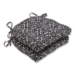 Pillow Perfect Lace It Up Ebony Reversible Chair Pad (Set of 2)