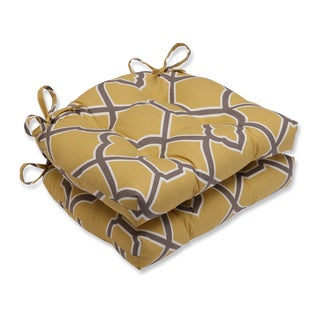 Pillow Perfect Bali Butterscotch Reversible Chair Pad (Set of 2)