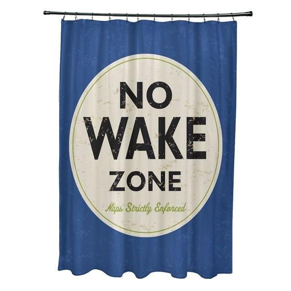 Nap Zone Word Print Shower Curtain