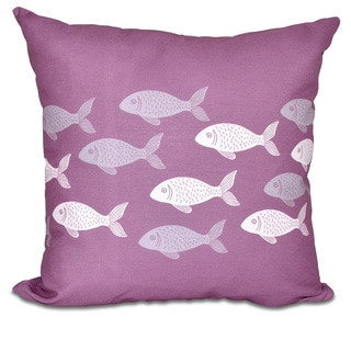 Fish Line 18-inch Animal Print Pillow