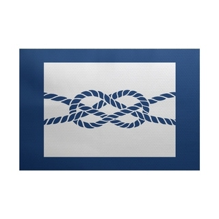 Nautical Knot Geometric Print Rug (4' x 6')