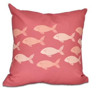 Fish Line 20-inch Animal Print Pillow