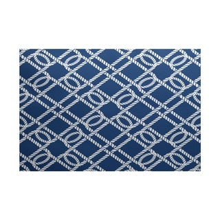 Know the Ropes Geometric Print Rug (3' x 5')