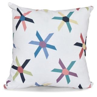 Pinwheel Pop 18-inch Geometric Print Pillow