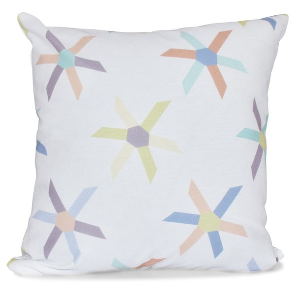Pinwheel Pop 20-inch Geometric Print Pillow