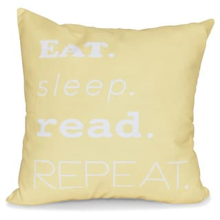 My Mantra Word Print 16-inch Pillow