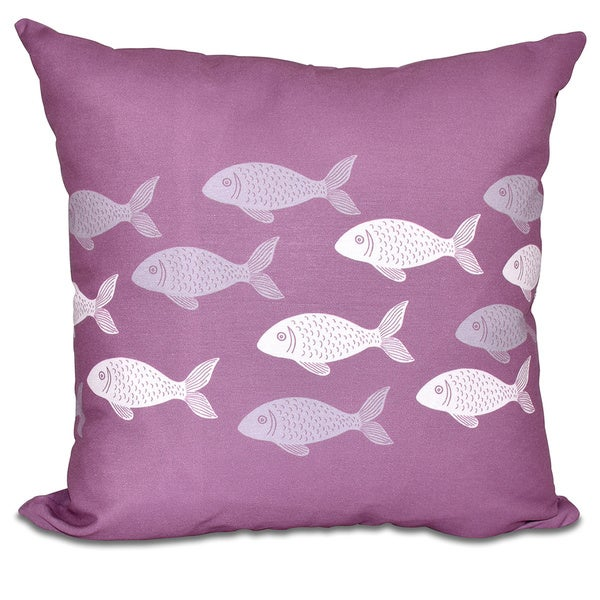 Fish Line 26-inch Animal Print Pillow