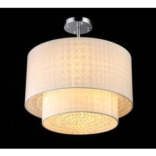 Matthea 6-light White Crystal Pendant Lamp