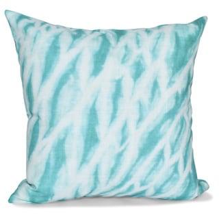 Shibori Stripe Geometric Print 18-inch Pillow