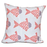 Fish Tales Animal Print 26-inch Pillow