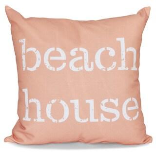 Beach House Word Print 20-inch Pillow