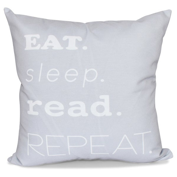 My Mantra Word Print 18-inch Pillow