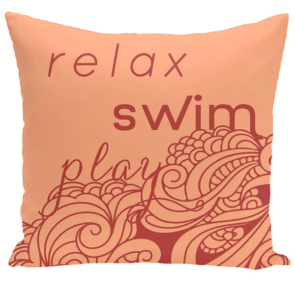 Word Print 18-inch Pillow