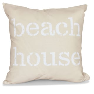 Beach House 26-inch Word Print Pillow