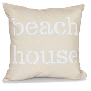 Beach House 26-inch Word Print Pillow