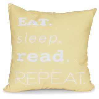 My Mantra Word Print 26-inch Pillow