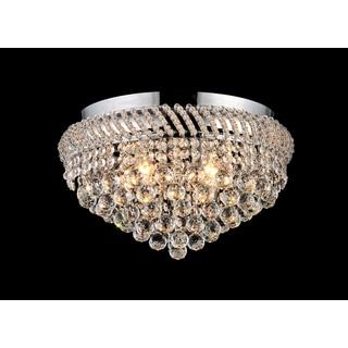 Whitney 4-light Crystal 16-inch Chrome Flush Mount