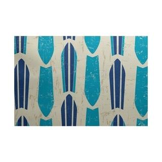 Dean Geometric Print Rug (5' x 7')