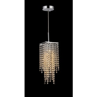 Sheea 1-light Crystal Falls Chrome Chandelier