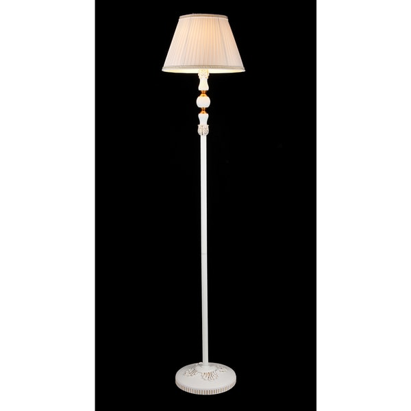 Theodosia 1-light White Victorian 62-inch Floor Lamp