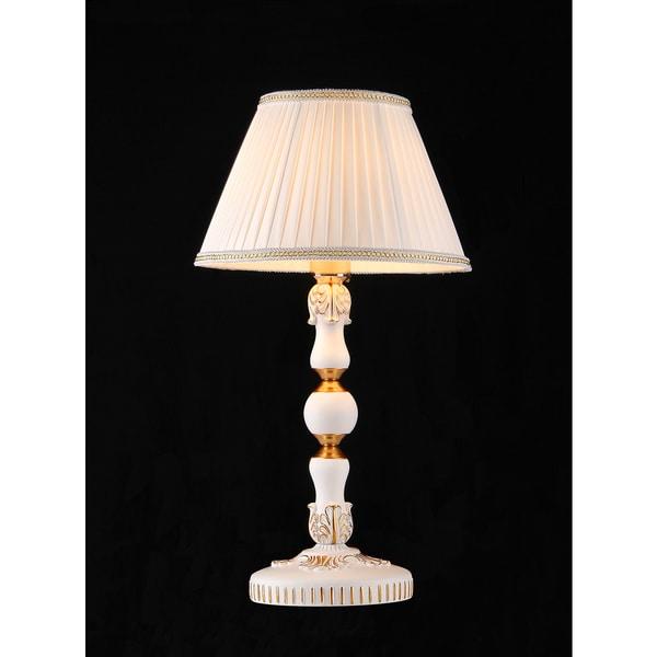 Monica 1-light White Victorian Table Lamp