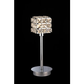 Shayne 1-light Crystal 12-inch Chrome Table Lamp