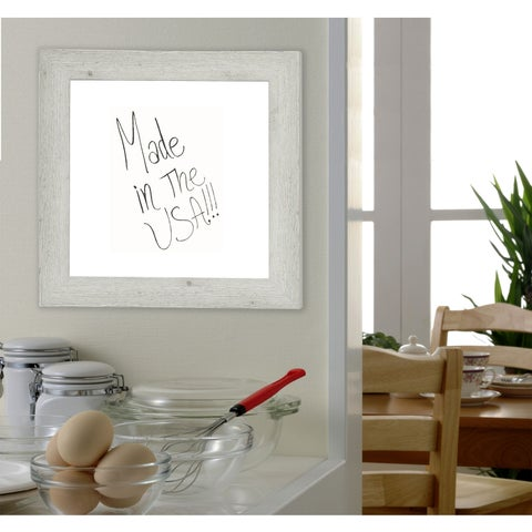 American Made Rayne White Washed Antique Dry Erase Board