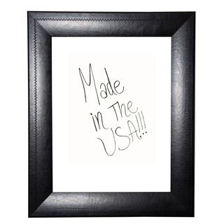 American Made Rayne Stitched Black Leather Dry Erase Board