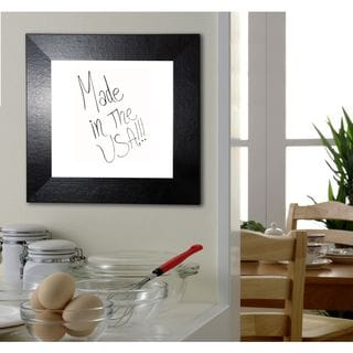 Ameican Made Rayne Black Wide Leather Dry Erase Board