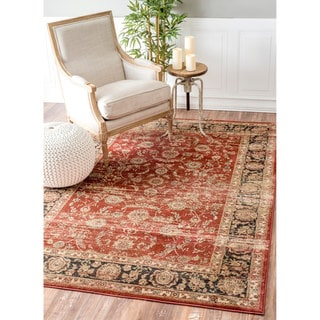 nuLOOM Vintage Traditional Persian Rust Rug (9' x 12')