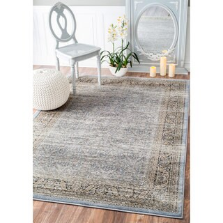 nuLOOM Traditional Ornate Petite Persian Blue Rug (5' x 8')