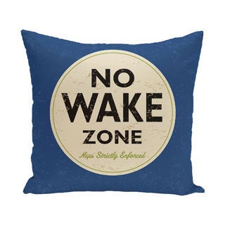 Nap Zone 18-inch Word Print Outdoor Pillow