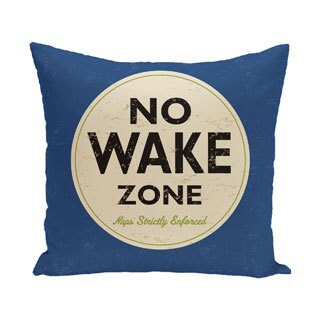 Nap Zone 18-inch Word Print Outdoor Pillow (4 options available)